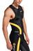 Skins Tri400 Top Sleeveless w Zip Men Black/Yellow